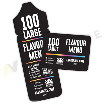 100 Large Flavour Card