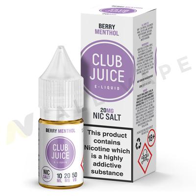 Berry Menthol Nic Salt eLiquid By Club Juice