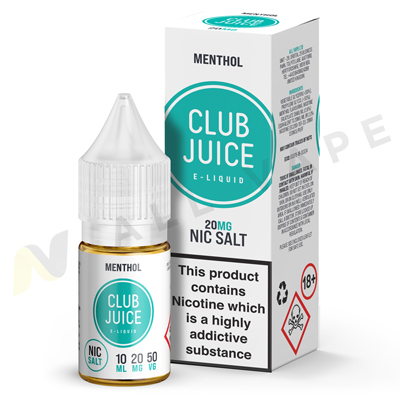 Menthol Nic Salt eLiquid By Club Juice