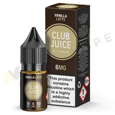 Vanilla Latte eLiquid By Club Juice 50/50