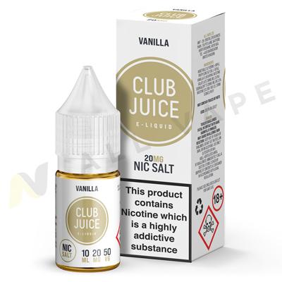 Vanilla Nic Salt eLiquid By Club Juice